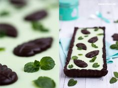 Chocolate Mint Tarte / Schokolade Pfefferminz Minze After Eight Kuchen