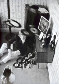 Brian Jones playing with vinyls