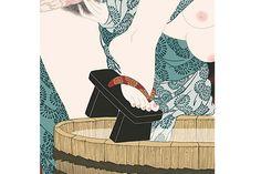 Japanese Drawings, Japanese Artwork, Japanese Painting, Japanese Prints, Creepy Drawings, Art Drawings, Greece Art, Female Body Art, Geisha Art