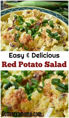 Easy Red Potato Salad Recipe , This Easy Red Potato Salad using Egg is quick and delicious. Perfect Side dish for a barbecue. Easy Summer Salads, Summer Salad Recipes, Healthy Recipes, Easy Salads, Healthy Salad Recipes, Easy Meals, Red Potato Recipes, Potato Salad Recipe Easy, Potato Salad With Egg