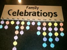 A Great Gift For Grandma To Remember All Those Birthday Wedding Anniversaries And Special Family