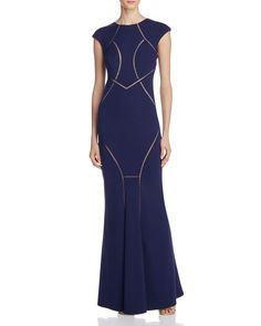 Dylan Gray Illusion Detail Gown