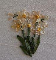 Silk Ribbon Embroidery: Silk Ribbon Embroidery Tutorial - Jonquils