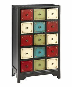 Take a look at this Red & Blue Chest by Timber Lane Furniture on #zulily today!