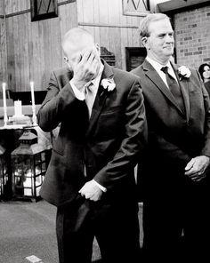 grooms reaction :)
