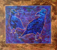 """ARTFINDER: The Bluebirds by Marina Krylova - This is my new painting from """"Red Nets"""" sereis"""