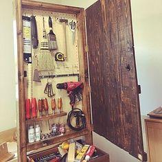 My Shelf/DIY/工具/有孔ボード/オイルフィニッシュ/ブライワックス ジャコビアン...などのインテリア実例 - 2017-02-26 02:18:40