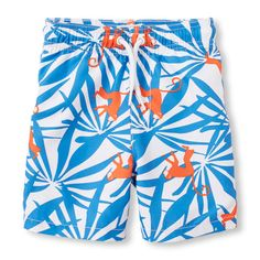Baby Boys Toddler Boys Island Swim Trunks - Blue - The Children's Place