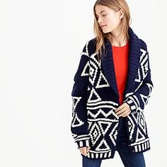 Collection Fair Isle cardigan in lambswool