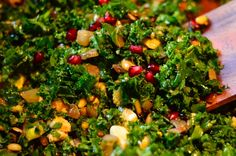 Pomegranate Kale Salad - this was delicious - had it tonight!!! (we had it with grape tomatoes too!)