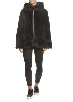 Black Toscana Reversible Sheepskin Leather Coat