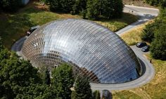 Spectacular forestry dome shines like a gem in the woods of Belgium Cultural Architecture, Green Architecture, Glass Building, Green Building, Sustainable Forestry, Dome House, Outdoor Classroom, Geodesic Dome, Construction