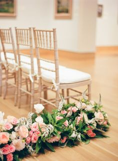 Wedding Ideas: floral-garland-aisle-marker