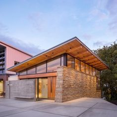 Seattle chapel by Hennerbery Eddy features chunky walls of stone and concrete