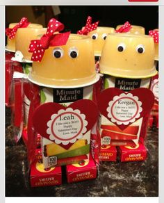 valentine's day juice box ideas