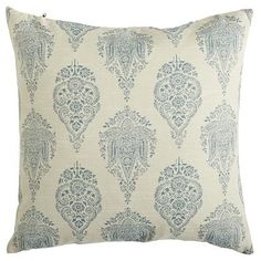 Rambagh Palace, once the private sanctuary of a maharaja and now one of the world's most exclusive hotels, provided inspiration for the ornate design of this decorative pillow. Sitting atop an ivory background, the symmetrical print conveys a sense of elegance you can add to your own abode. Thankfully, we've made sure rich isn't reserved solely for the royals these days.