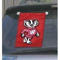 University of Wisconsin Badgers NCAA Window / Garden Flag NEW FREE SHIPPING