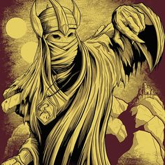 Hastur the Yellow King from ancient lore.