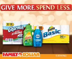 Family Dollar: Daily Coupon Deals on P&G Products!