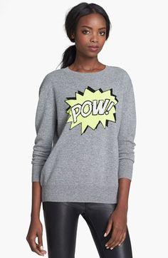 autumn cashmere 'Pow' Intarsia Knit Boyfriend Sweater $360.00
