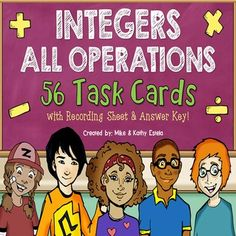 Integer Task Cards {All Operations} $