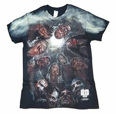 The Walking Dead Zombies Under the Moon Graphic T-Shirt (XXX-Large) @ niftywarehouse.com #NiftyWarehouse #Geek #Horror #Scary #Halloween