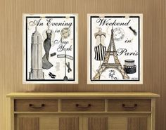 Paris & New York Wall Decal, have these and adore them :)  may need to bring them along to college!