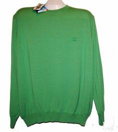 Paul & Shark Yachting AUTHENTIC Green Cotton Men's Italian Shirt Sweater Sz XL  #PaulSharkYachtingAUTHENTIC #Crewneck