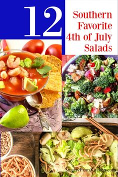 Beat the heat on 4th of July with these easy, cool and refreshing Southern summer salads! Fourth of July Summer Salad recipes anyone can make! Easy Summer Salads, Summer Salad Recipes, Easy Recipes For Beginners, Cooking For Beginners, Southern Tuna Salad Recipe, Crunchy Asian Salad, Frozen Cooked Shrimp, Salad Menu, Southern Recipes