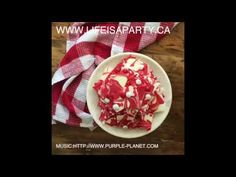 Canada Day Chocolate Bark: a very easy, and delicious Canada Day treat, perfect for any celebration.