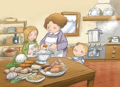 This illustration will be featured on the back cover of this March's Highlights for Children . Talk 4 Writing, Sequencing Pictures, Vocabulary Practice, Picture Writing Prompts, Speech Therapy Activities, Children's Book Illustration, Illustrations, English Lessons, Speech And Language