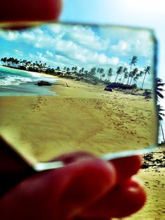 My friend found a piece of glass on the beach in the Dominican Republic & he took this picture