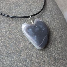 Heart pendant necklace  handmade in by NaturesArtMelbourne on Etsy,