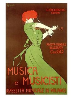 Leonetto Cappiello Musica E Musicisti print for sale. Shop for Leonetto Cappiello Musica E Musicisti painting and frame at discount price, ships in 24 hours. Cheap price prints end soon. Vintage Italian Posters, Vintage Travel Posters, French Posters, Poster Vintage, Art Nouveau Poster, Art Deco Posters, Poster Ads, Advertising Poster, Print Poster