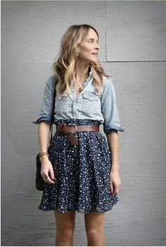 H&M shirt and Zara skirt, as worn by Lucy Laucht.