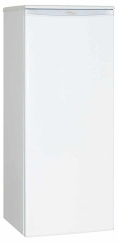 Upright Freezer - White -- Check this awesome product by going to the link at the image. Apartment Refrigerator, All Refrigerator, Door Shelves, Glass Shelves, Cool Kitchen Gadgets, Cool Kitchens, Full Fridge, Upright Freezer, Freezer Storage