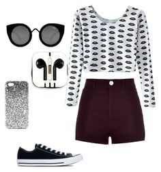"""Hipster Outfit"" by kyrarosealcoran on Polyvore featuring River Island, Converse, Quay, Topshop and PhunkeeTree"