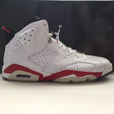 DS Nike Air Jordan 6 VI Retro White Red Size 13