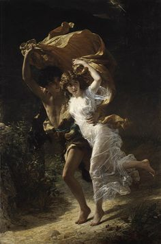 """""""The Storm"""" by Pierre-Auguste Cot,  1880"""
