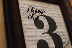 Life {Sweet} Life: House of 3 {Free Printable}