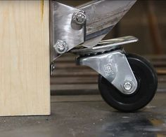 Like many makers, I have a lot of everything except space. To make things more accessible, I put everything on wheels. My tablesaw was a real problem until I saw retractable casters on a work bench. Once I saw how easy they were to make, my mission was clear. #woodworkingbench
