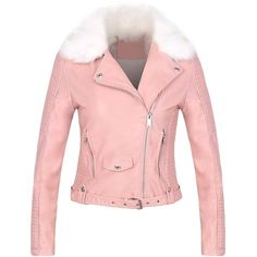 Yoins Pink Leather Biker Jacket (3.515 RUB) ❤ liked on Polyvore featuring outerwear, jackets, coats & jackets, pink, faux-leather jacket, moto jacket, pink jacket, pink leather jacket and genuine leather jacket