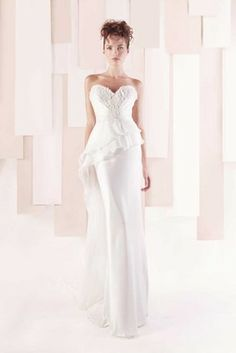If you are looking to add some drama to your wedding day look, a peplum wedding dress may be exactly what you are looking for! Peplum Wedding Dress, Wedding Dress Cake, Wedding Dresses 2014, Designer Wedding Dresses, Wedding Gowns, Dresses 2013, Fairytale Gown, Wedding Dress Gallery, Wish Dresses