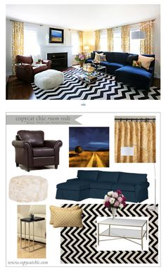 COPY CAT CHIC ROOM REDO I BOLD TWIST ON TRADITIONAL LIVING ROOM FOR UNDER $3000