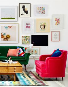 Lovely and bright velvet sofas...