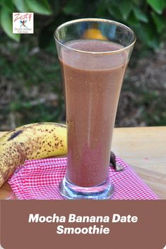 Delicious smoothie made of banana, coffee and cocoa powder, it has protein from almonds, make it skinny with addition of dates. Easy Drink Recipes, Delicious Breakfast Recipes, Fruit Recipes, Coffee Recipes, Light Recipes, Brunch Recipes, Summer Recipes, Healthy Recipes, Nutritious Smoothies
