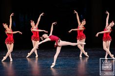 Tiler Peck (New York City Ballet) & members of Pennsylvania Ballet perform in George Balanchine's Rubies on the Opening Night of the 2014 Va...