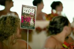 Instead of Table Numbers, you use Movies for Tables.  Make it wedding themed or the Bride and Grooms favorite movies.