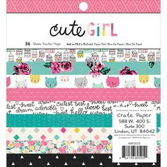 American Craft Crate Paper Cute Girl Collection 12 X 12 Vellum Paper Twirl