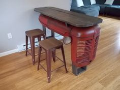 Tractor-Mancave-Bar-Table-Upcycled-1945-IH-Farmall-4-Tailgate-Bench